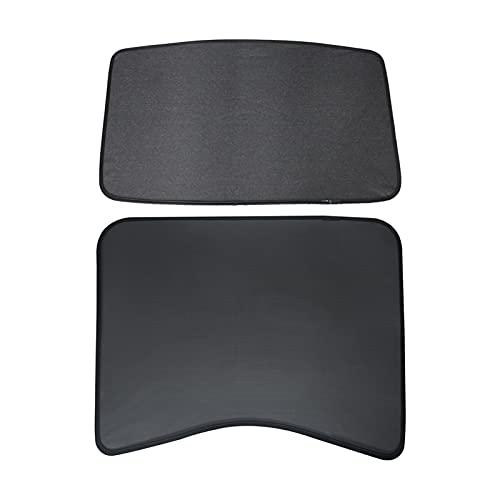 FENGFANG XIAO Store MODELO3 Sunshade Car Sun Visor DE Sol Trasero Frontal SOLUTO Ajuste para Tesla Modelo 3 2021 Accesorios Accesorios Techo Skylight Shades Protector (Color : Set-2)