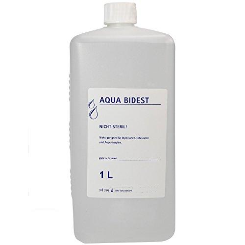 Preisvergleich Produktbild 23 x Aqua Bidest Laborwasser Laborwasser besonders rein 1 L