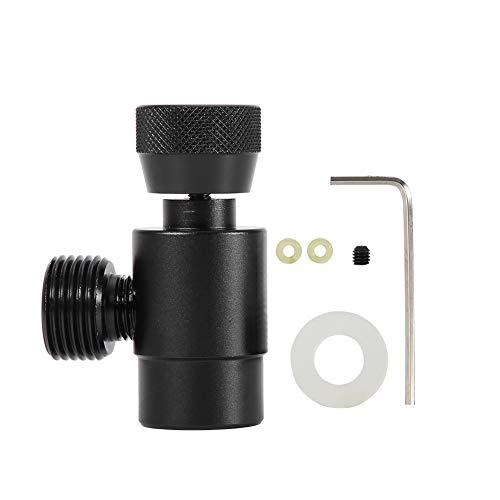 DEWIN Cylindre CO2 Sodastream - Cylindre CO2 Kit de connecteur d'adaptateur de remplissage de réservoir de remplissage de CO2 pour SodaStream (Noir sans Compteur)