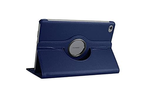 LIUCHEN Funda de piel sintética giratoria para Huawei Mediapad M5 Pro 10.8 Lite 10.1 8.4 BAH2-W19 JDN2-AL00 SHT-AL09 CMR-W09 Tablet, azul marino, para Huawei M3 lite8