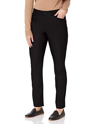 Gloria Vanderbilt Women's Haven Straight Trouser Pant, Black, 14