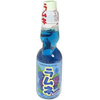 Ramune Japanische Limonade / Erfrischungsgetränk: Blaubeeren Geschmack 200 ml