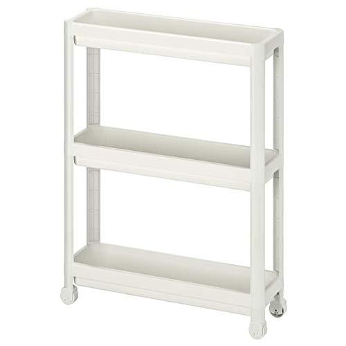 Ikea Vesken Carro Blanco 21 1/4x7 1/8x28 004.712.22