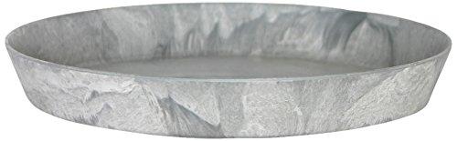 Artstone Untersetzer rund, frostbeständig und leichtgewichtig, 32 x 5 cm, grau