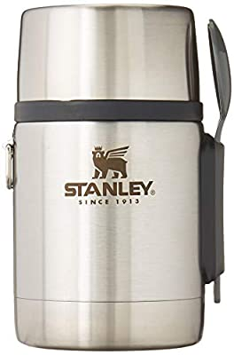 Stanley Classic Legendary Vacuum Insulated Food Jar 18 oz ? Stainless Steel, Naturally BPA-Free Container ? Keeps Food/Liquid Hot or Cold for 15 Hours ? Leak Resistant, Easy Clean