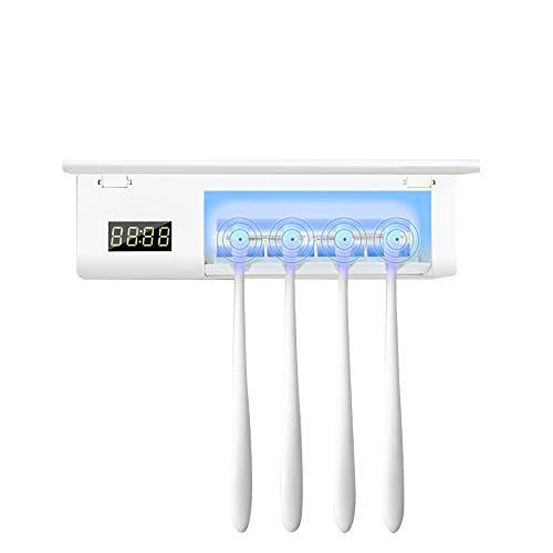 ONEVER Portacepillos de Dientes eléctrico Esterilizador UV 4 Puertas Cepillos Cepillos de...