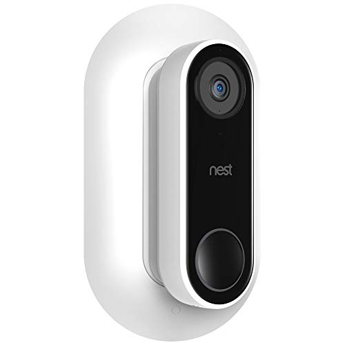 Aobelieve Wall Plate with 35-Degree Wedge for Nest Hello Video Doorbell, White
