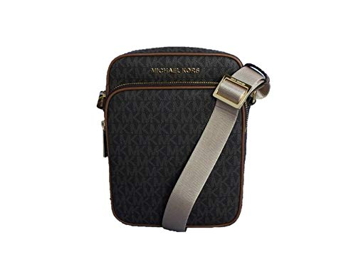Made of PVC; Zip top closures; Front zip pocket; Back open pocket 1 inside pocket; 21 to 23 inches Long removable strap Gold or Silver tone exterior hardware Measurements: Length: 6.5 x Height: 9 x Width: 3 Inches Comes with original tags
