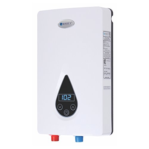 220V/240V-14.6kW Tankless Water Heater with Smart Technology, Small, White - Marey ECO150