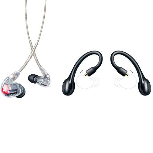 Shure SE846 Wired & Wireless Earphone Bundle, Sound Isolating Earbuds, Quad High Definition Micro-Drivers & True Subwoofer, Detachable Cable & Wireless Bluetooth Adapter, Secure In-Ear Fit - Clear
