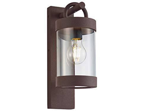 Moderna lámpara LED de pared exterior en aspecto oxidado, iluminación exterior versátil para casa y terraza 🔥