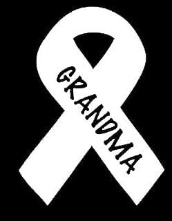 Grandma Support Breast Cancer Decal Vinyl Sticker|Cars Trucks Vans Walls Laptop| White |5.5 x 4 in|LLI232