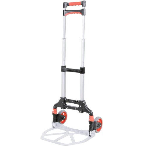 XS-Stock Folding Aluminium Trolley Cart Light Weight Easy Use Mover For Home Office Garden