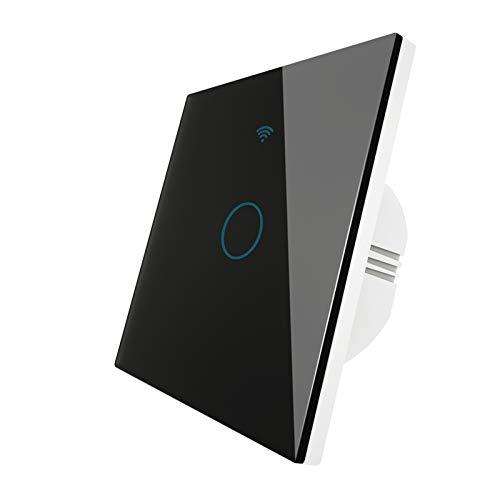 KEXQKN Interruptor de luz táctil, WiFi 2 Way Wall Touch Sensor Smart Switch RF433 Transmisor Panel de Pared Control Remoto inalámbrico Trabaja con para casa