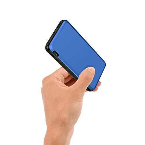 ockered Powerbank 20000mAh, Power Bank mit USB C/Micro Eingängen, 2.4A High-Speed Ausgänge Tragbar Externer Akku Kompatibel mit Handy, iPhone, iPad und Tablette (Blau)