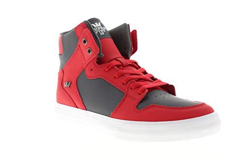 Supra Unisex-Erwachsene Vaider Hohe Sneaker, Rot (Red/Dk. Grey-White 607), 44 EU