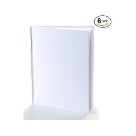White Blank Books with Hardcovers 8.5'W x 11'H (6 Books / Pack)