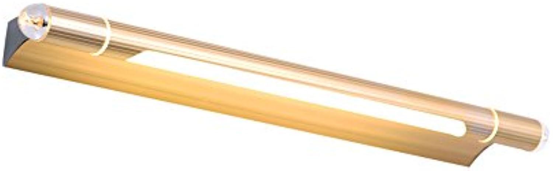LED-Spiegel-Scheinwerfer-Badezimmer-Badezimmer-Spiegel-Lampen-Wand-Lampen-Verfassungs-Lampen-einfache wasserdichte Anti-fog lange Spiegel-Kabinett-Beleuchtung (Farbe   Gold-L)