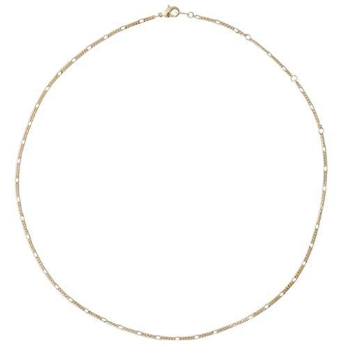 HONEYCAT Figaro Cadena Gargantilla Collar-24k en la Placa de Oro, 18k Placa de Oro Rosa o Plata | Minimalista, de joyería Delicado (Oro)