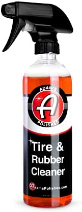 Adam's Tire & Rubber Cleaner (16 oz) – Removes Discoloration From Tires Quickly – Works Great on Tires, Rubber & Plastic Trim, and Rubber Floor Mats