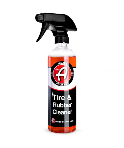 Adam's Tire & Rubber Cleaner (16 oz) - Removes Discoloration From Tires Quickly - Works Great on Tires, Rubber & Plastic Trim, and Rubber Floor Mats