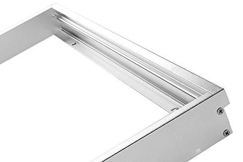LUMIXON LED Panel Rahmen 120x30cm Aufbaurahmen Aufputz-Rahmen Aluminium Silber oder Weiß (silber)