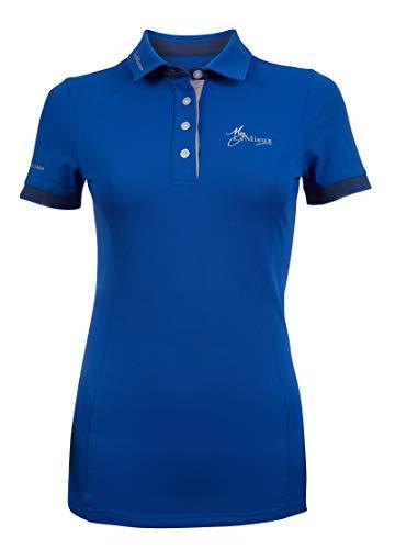 LeMieux Damen-Poloshirt, kurzärmelig M Benetton Blue