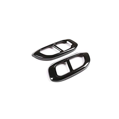 L/&U 2Pcs PU Leather Car Seat Gap Leakproof Filler Pad With Slot Plug and Embroidery Label For Mercedes-Benz A B C E-Class GLA GLC GLE GLK,Black