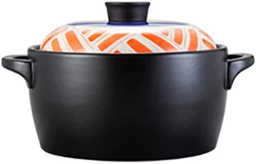 HYYDP Cacerolas Placas de cazuela con párpados Pot de cazuela - Pequeña cazuela de cerámica Resistente al Calor para la Estufa de Gases del hogar (Size : 2.8L)