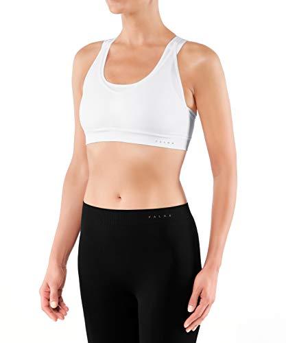 FALKE Damen Sport-BH Cross Back Medium Support - Bra Top aus Funktionsfaser mit Ringerrücken, für verschiedene Cupgrößen, 1 Stück, Bustier in weiß (white 2860), Größe: S
