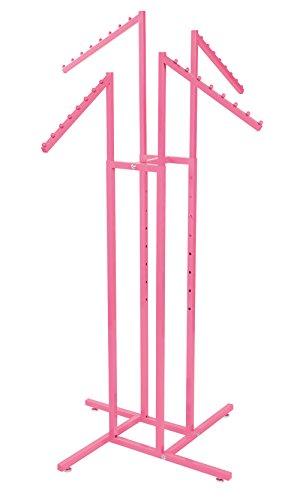 SSWBasics Hot Pink 4 - Way Slanted Arm Clothing Rack