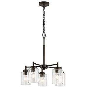 Kichler 44030OZ Five Light Chandelier from the Winslow Collection, Olde Bronze