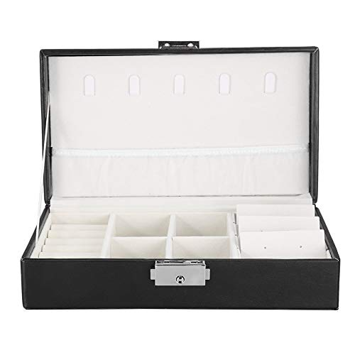 banapo Schmuck Aufbewahrungskoffer, zarte und praktische Elegante Schmuckschatulle mit abnehmbaren Trennwänden, Schlafzimmer für Frauen Schlafzimmer für Frauen(Black)