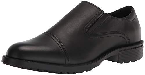 Shoes for Crews 1202 - STATESMAN Scarpa da uomo in pelle elegante antiscivolo, NERO - Certificato di sicurezza EN