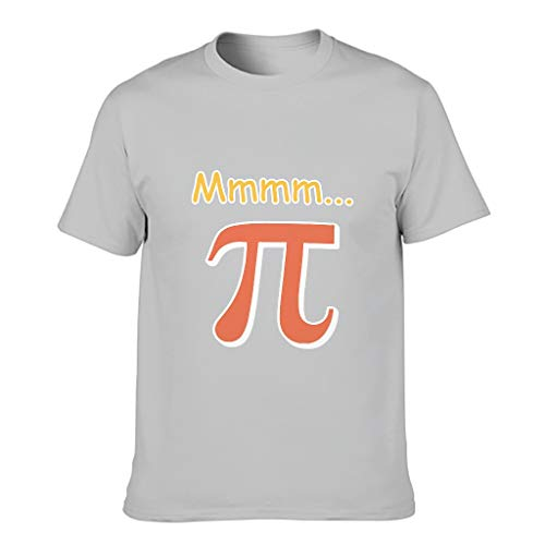 Mmm Pi - Camiseta de algodón para hombre con cuello redondo