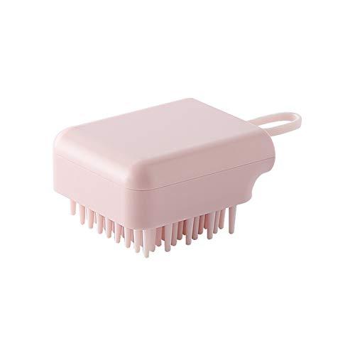 Cepillos de cuerpo Cabeza de silicona Cabello Cuero cabelludo Masaje Cepillo Peine Champú Peinado Lavado Peine Cepillo de Ducha Cepillo de Masaje Baño (Color : 1PC Pink)