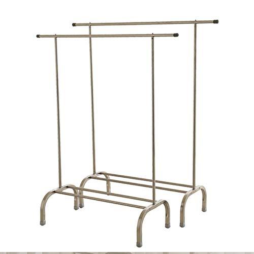 Coat Racks ZHPBHD Free Standing Rack Drying Rack Floor Single Rod Stainless Steel Hanger Indoor Hanger Dormitory Storage Organizer (Color : 100cm)