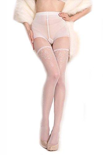 Ballerina damespanty BA10109 20 wit zilver maat L/XL