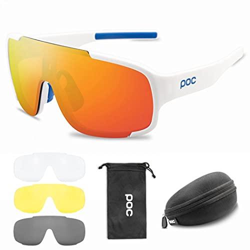 MilkyWay Gafas de ciclismo, gafas de sol deportivas para hombres y mujeres, doble ancho polarizado, gafas deportivas bolsa y funda, gafas resistentes al viento para ciclismo, equitación/escalada (4)