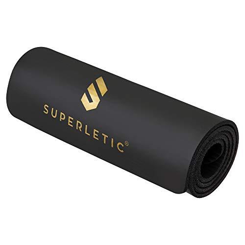 SUPERLETIC Gymnastikmatte Essential I rutschfeste Fitnessmatte I 3 Mattenstärken für Fitness, Turnen, Pilates, Yoga I Hautfreundliche Sportmatte I 180 x 60 x 0,8 cm