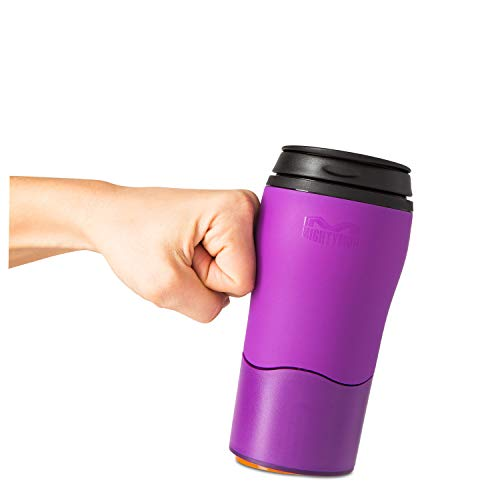 Mighty Mug Solo, Double Wall Plastic 12oz Travel Mug featuring No Spill Smartgrip Technology - Lilac