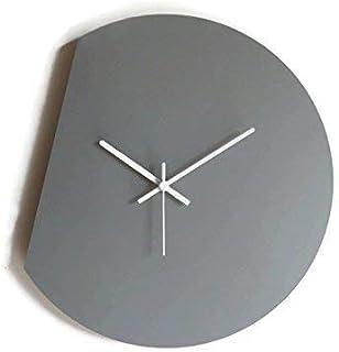 42cm Grande orologio da parete silenzioso per salotto colorato come grigio sasso Particolari orologi a muro analogici con ...