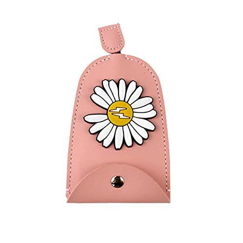 USNASLM Cartoon Daisy Flowers Key Bag PU cuero carteras llavero coche llavero caso nuevo cuero llavero bolsa
