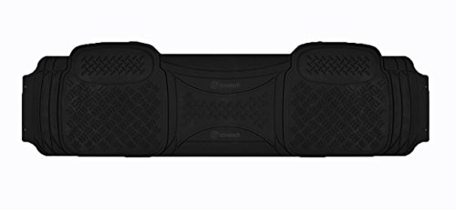 Zone Tech Heavy Duty Solid Black Rubber Automotive Universal 1 Piece Runner Floor Mat