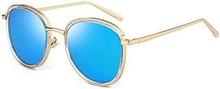 Sunglasses Fashion Accessories Polarized Sunglasses Fashion Round Frame Sunglasses UV Fishing Outdoor Climbing Driving (Color : Blue)