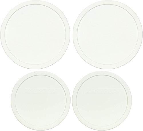 CorningWare (2) FS-1-PC 2.5Qt French White Lids and (2) F-5-PC 1.5Qt French White Lids -  FS-1-PC, F-5-PC