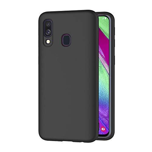AICEK Cover per Samsung Galaxy A40, Cover Samsung Galaxy A40 Nero Silicone Case Molle di TPU Sottile Custodia per Samsung Galaxy A40 (5.9 Pollici)