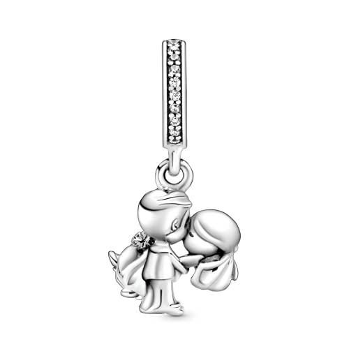 ZHANGCHEN Pareja de Moda 925 Charm de Plata esterlina para Mujer Regalo Joyería de Bricolaje