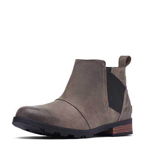 Sorel Women's Emelie Chelsea Boot - Light and Heavy Rain - Waterproof - Quarry, Black - Size 8.5