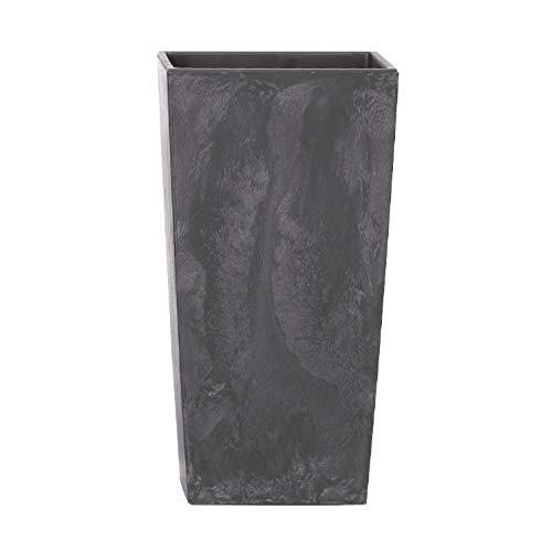 Prosperplast Fioriera Urbi Fioriera Quadrato Design 2in1 con Vaso in plastica Altezza 420mm capacità: 8,0 L/16,3 L (Antracite)